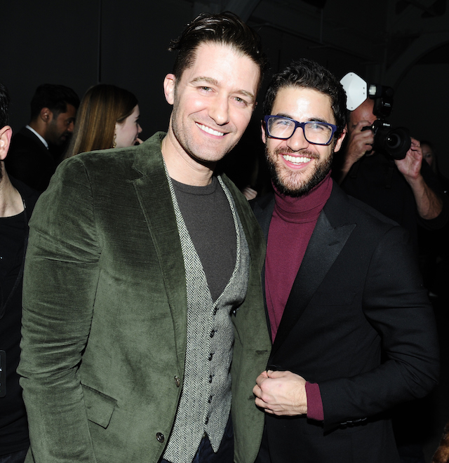 NYFW 2018 Celebrity Sightings: Matthew Morrison & Darren Criss