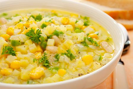 Slow cooker corn and shrimp chowder
