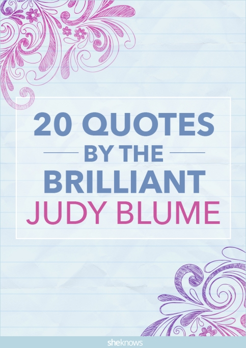 Judy Blume quots