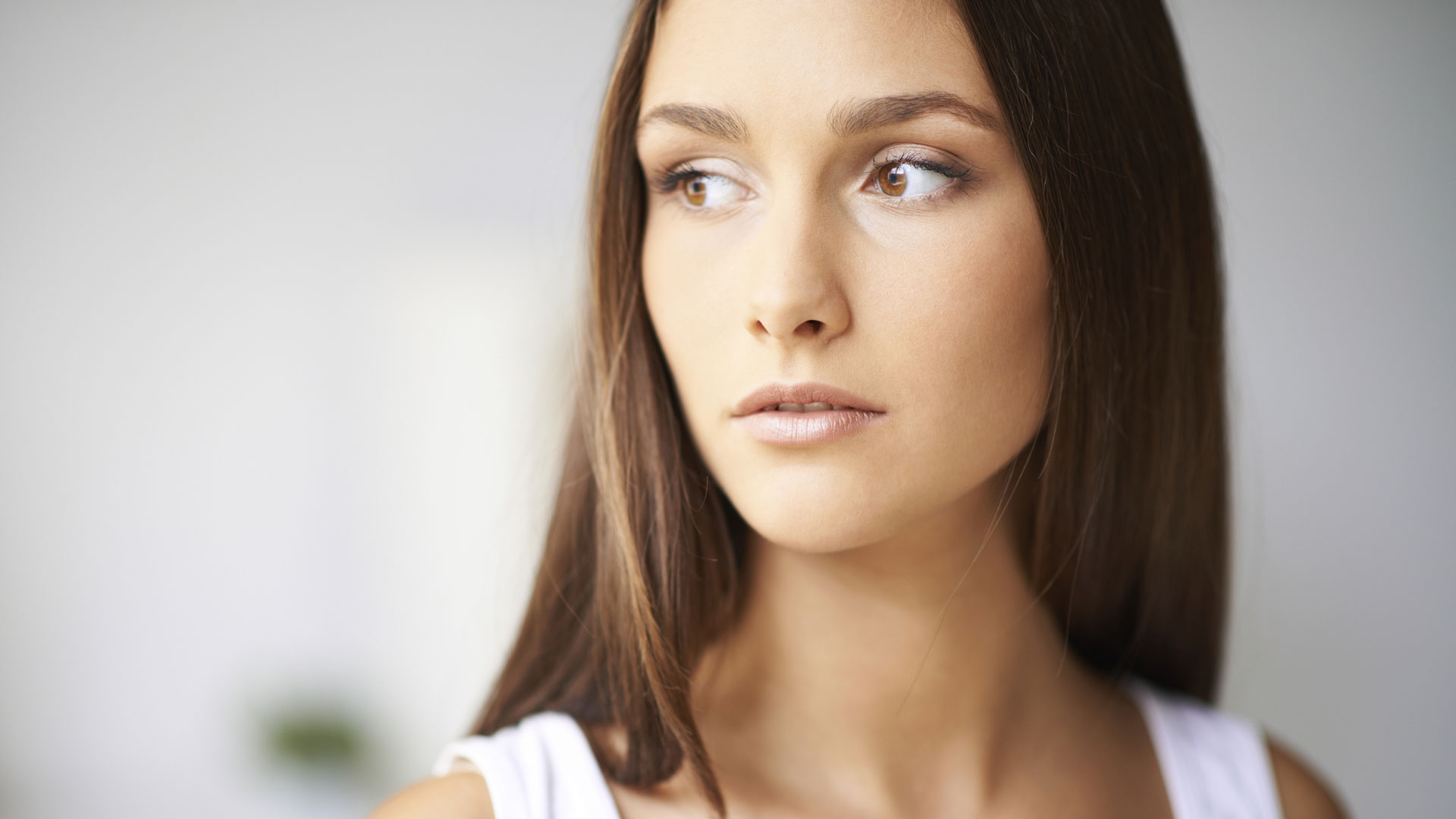 Young woman with flawless face