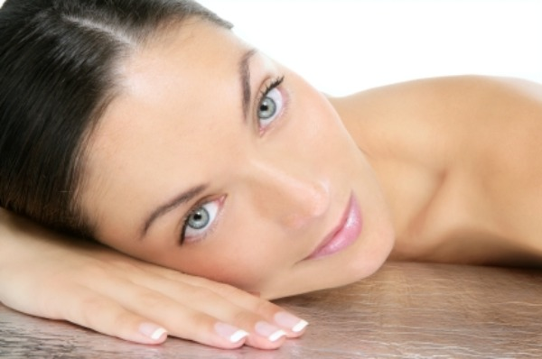woman with flawless skin