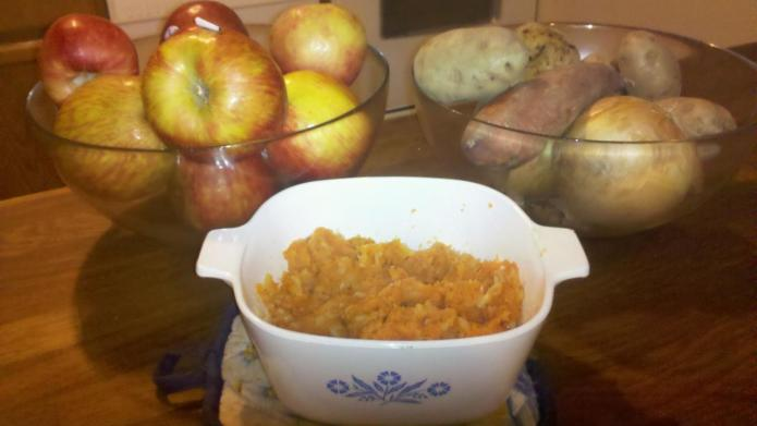 Mom's Mashed Parsnips and Carrots