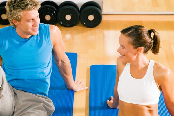 Flirting at gym