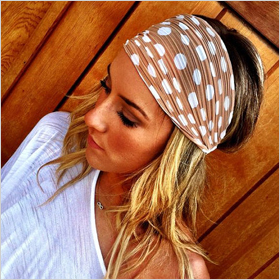 polka dot stretchy head wrap