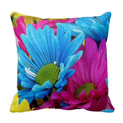 Gerbera-Daisies-Pillow