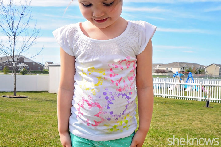 Flower t-shirt tutorial