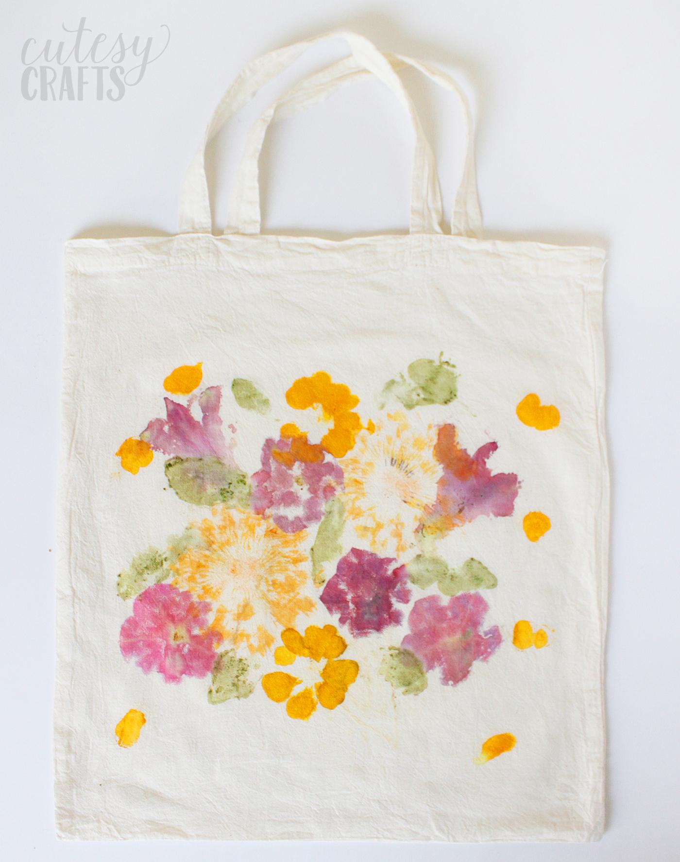 Flower tote DIY