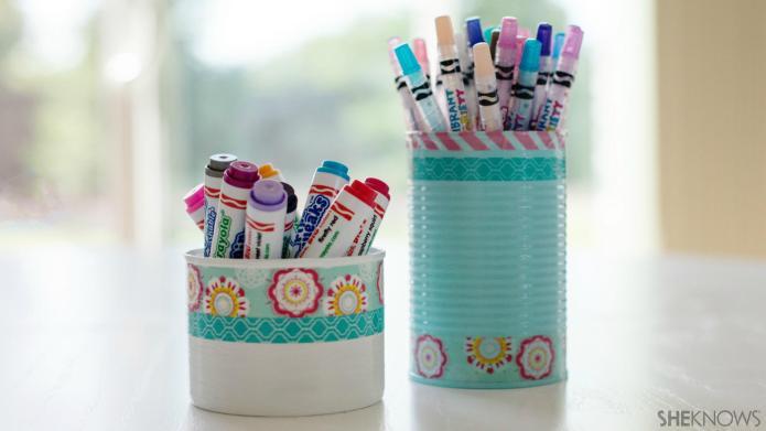 Cute DIY pencil holders help tame