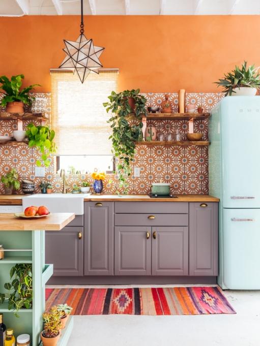 Earthy Patterned Kitchen