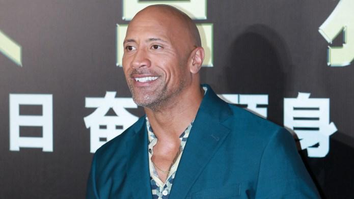 Dwayne Johnson attends 'Skyscraper' premiere on