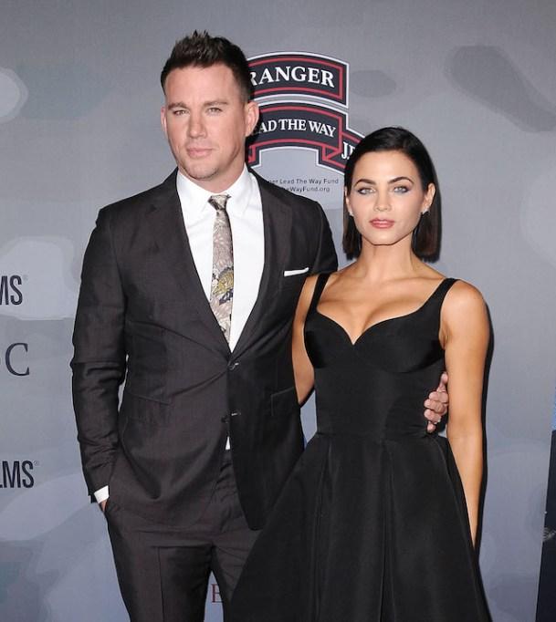 Channing Tatum & Jenna Dewan at the premiere of 'War Dog'