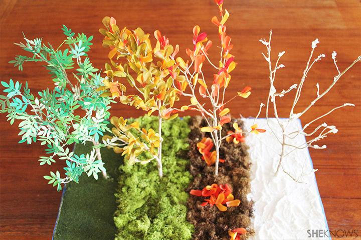 Completed Fall Foliage Diorama