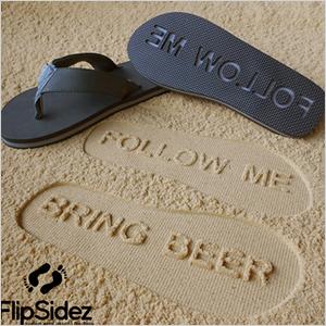 Custom sand imprint flip flops | Sheknows.ca