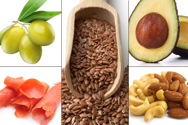 Food sources of good fat - avocado, nuts, salmon, olives and flaxseed