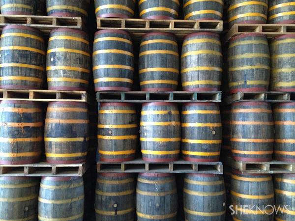 Rum in barells