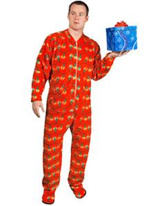 Christmas Lights Footed Pajamas