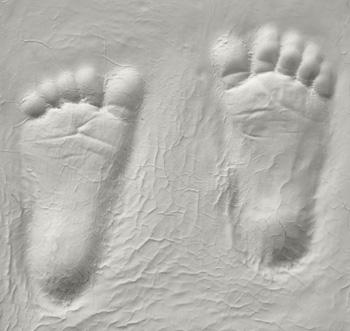 Plaster Footprints