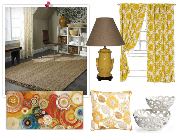 Warm and golden jute decor