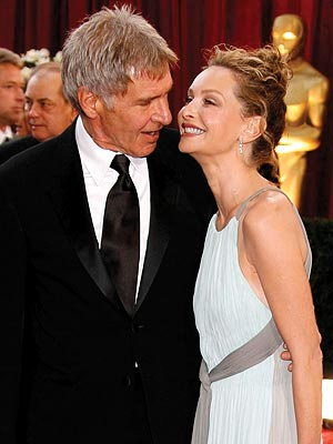 Harrison Ford and Calista Flockhart at last year's Academy Awards