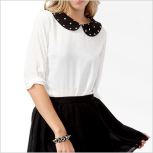 forever 21 collar top