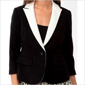 Forever 21 contrast lapel blazer