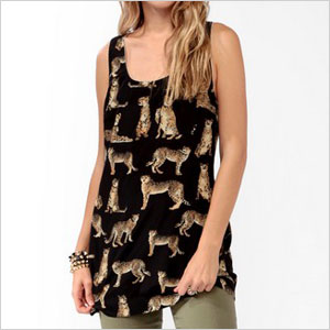 Forever 21 printed leopard tunic