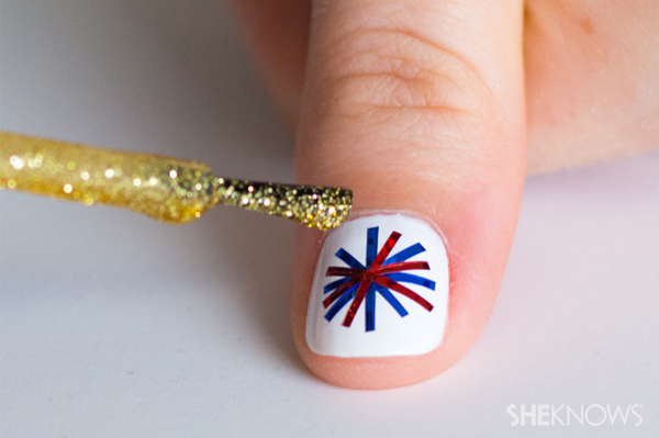 Fourth of July fireworks nail design - Fourth Of July Fireworks Nail Design – SheKnows