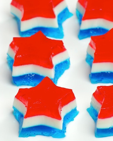 Fourth of July jello shot