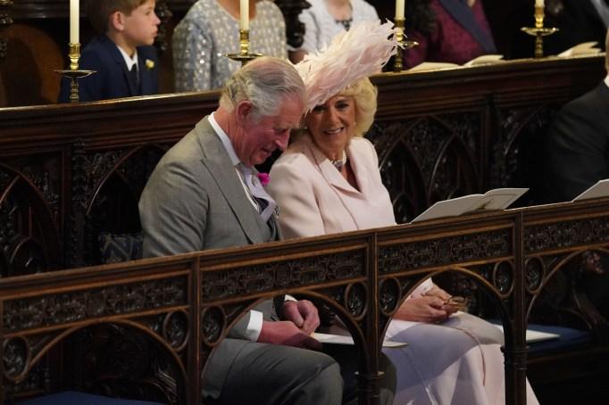Prince Charles & Camilla at the royal wedding