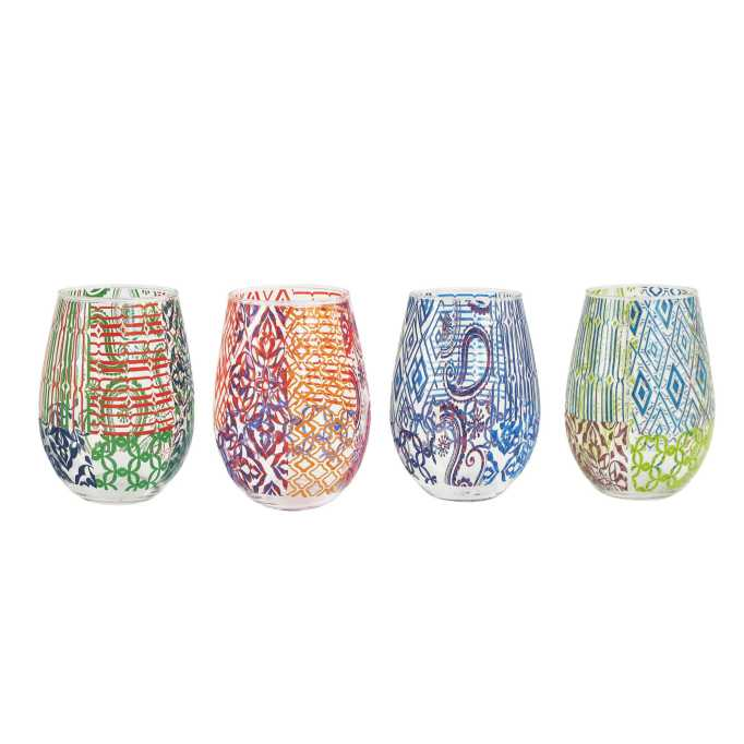Cute, affordable wine glasses | graphic wine glass