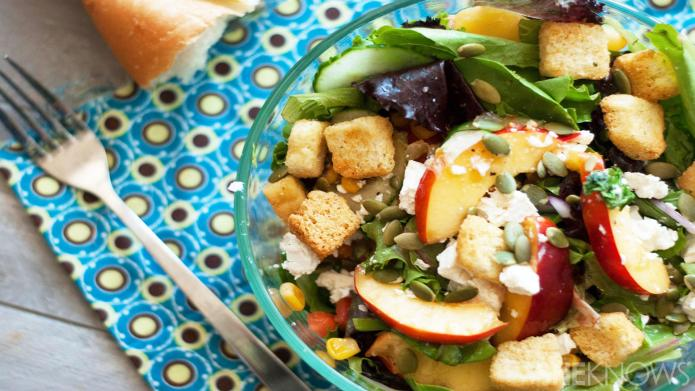 Sweet and savory nectarine salad is