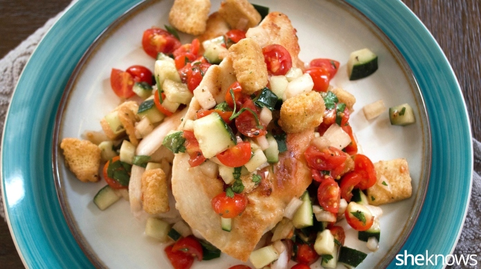 Panzanella-topped chicken scaloppine: An everyday dinner