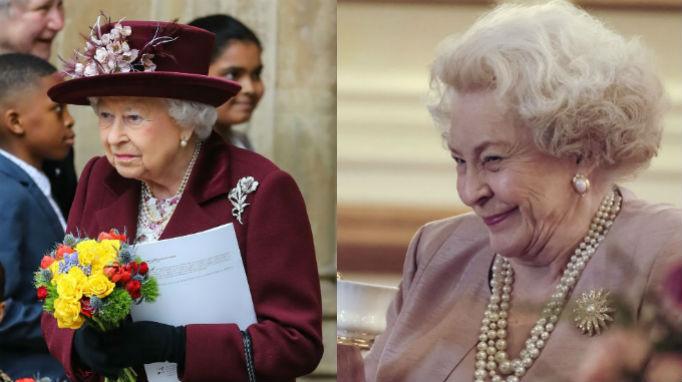Queen Elizabeth II, Maggie Sullivun, Meghan and Harry Lifetime Movie