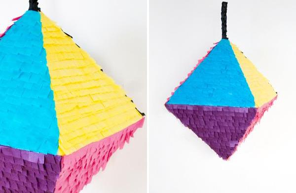 Geometric piñata DIY