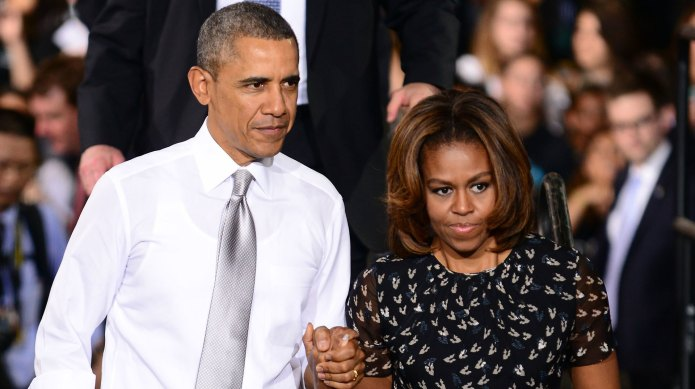Barack and Michelle Obama go way