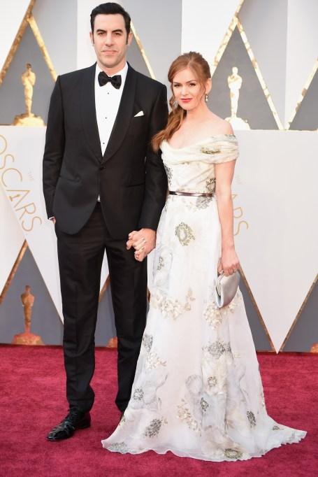 Sacha Baron Cohen & Isla Fisher Oscars 2016