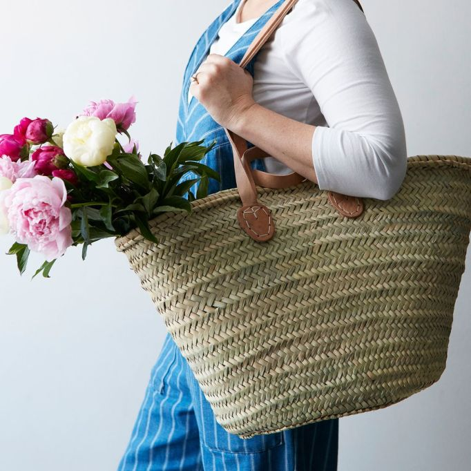 Wedding gifts under $100: woven farmer's market tote.
