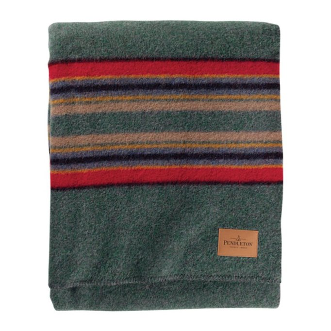 Luxe Throws For Your Bed or Sofa This Season | Pendleton Twin Camp Blanket with Carrier