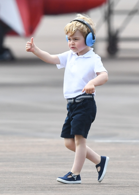 Prince George at the Royal International Air Tattoo.