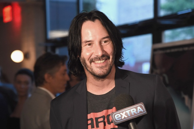 Keanu Reeves attends the New York premiere of Siberia