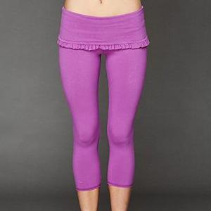 Free People leggings in purple