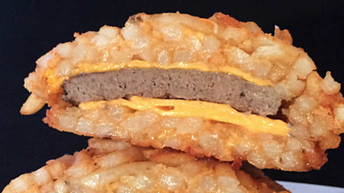 The french fry burger bun was