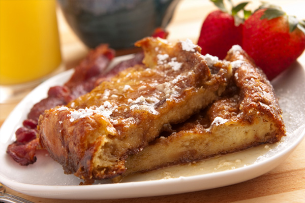 French toast in bed
