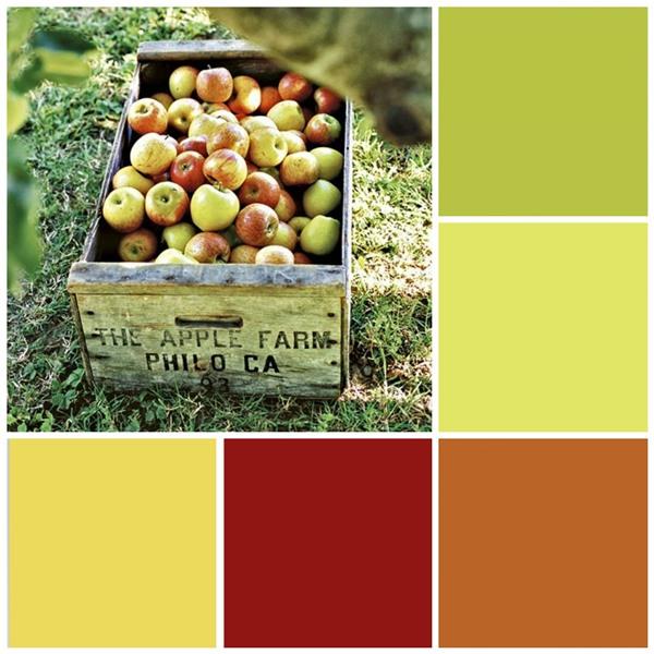 Fresh apples color scheme