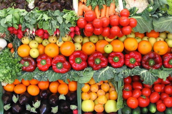 Fresh fruit and veggies