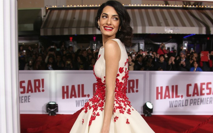 Amal Clooney at the Hail! Caeser premiere