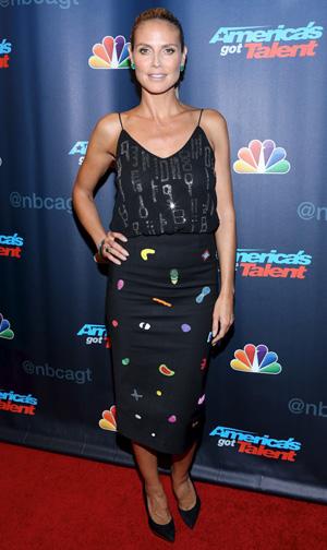 Heidi Klum at season 8 party for America's Got Talent
