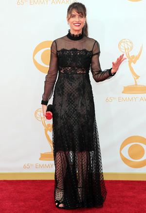 Amanda Peet at the 2013 Emmy Awards