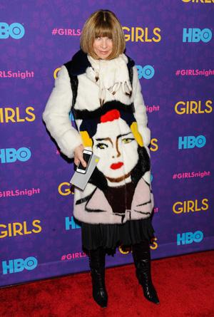 Anna Wintour at Girls season three premiere