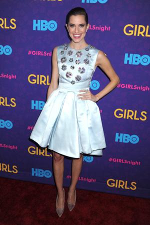 Allison Williams at Girls season three premiere